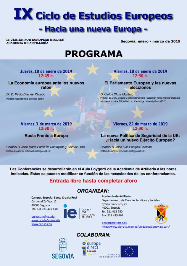 cartel IX ciclo de estudios europeos